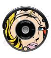 POP-ART  Chica Warhol. Vinilo para Roomba iRobot - Serie 500 600